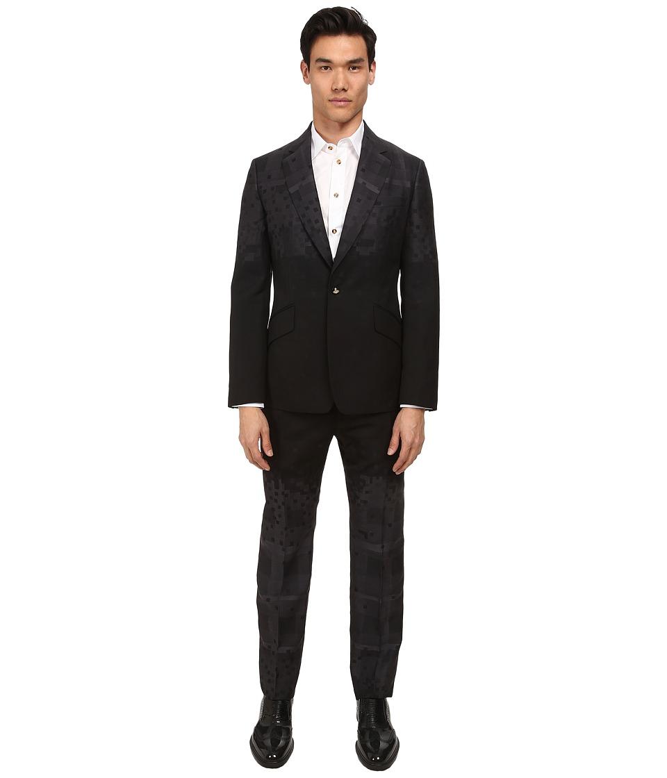 Vivienne Westwood - Pixelated Tartan James Suit (Grey Multi) Men's Suits Sets