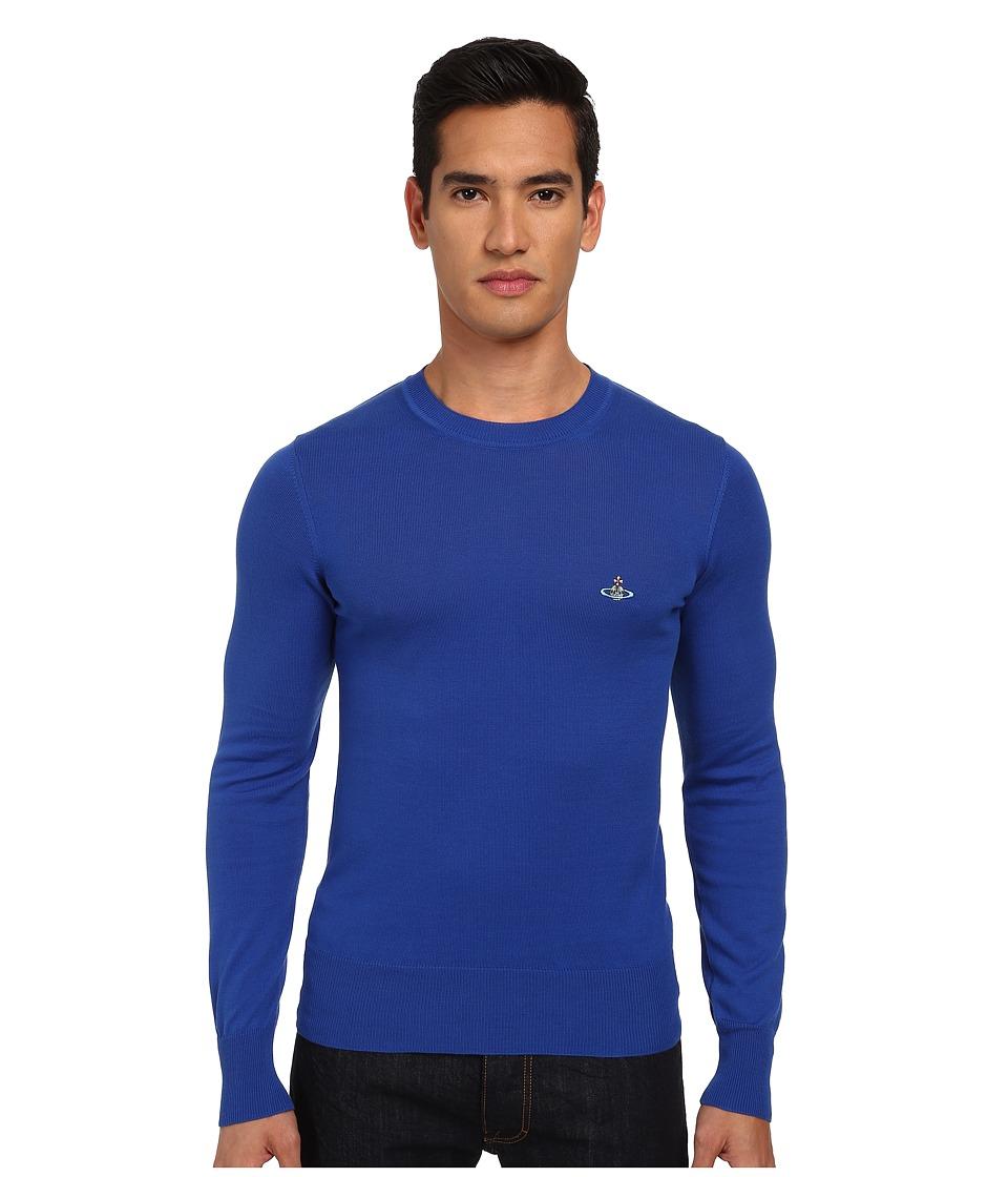 Vivienne Westwood MAN - Classic Crew Neck Sweater (Blue Royal) Men