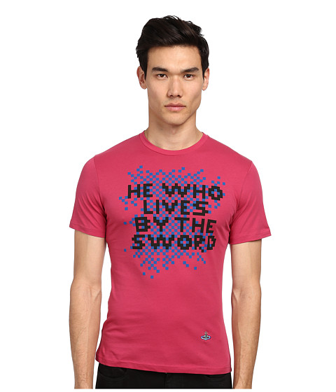 Vivienne Westwood MAN - He Who Lives T-Shirt (Coral) Men's T Shirt