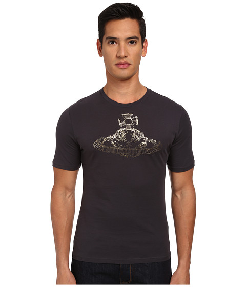 Vivienne Westwood MAN - Orb Safety Pin T-Shirt (Carbon) Men's T Shirt