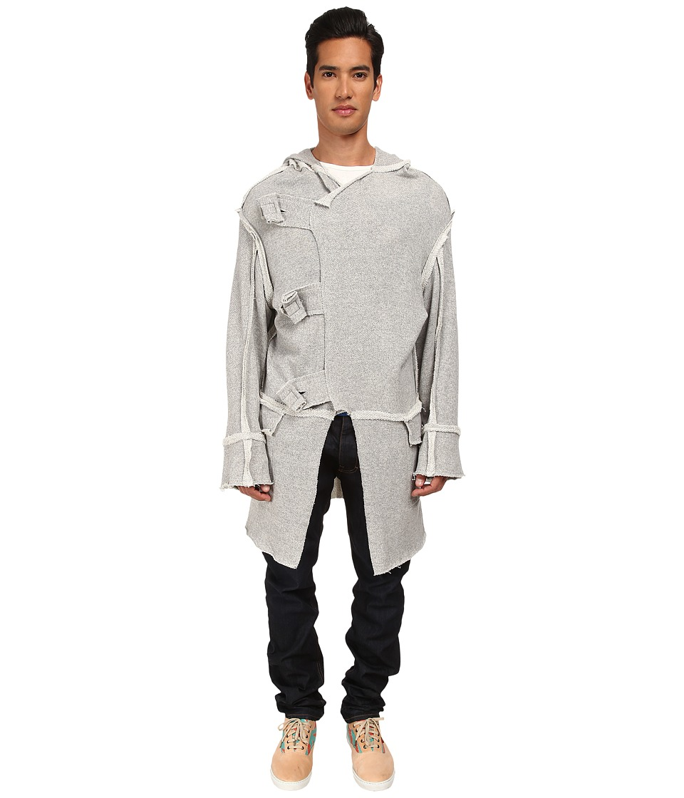 Vivienne Westwood MAN - Anglomania Buffalo Sweat Cardigan (Grey) Men's Sweater