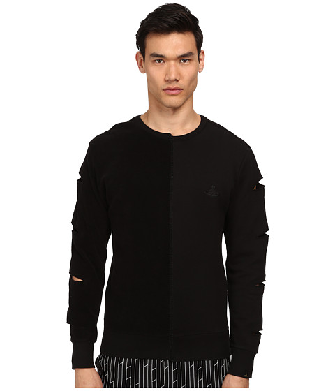 Vivienne Westwood MAN - Anglomania Diy Crew Neck Sweatshirt (Black) Men