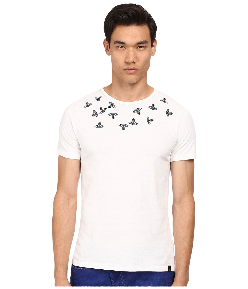 Vivienne Westwood MAN - Anglomania Crazy Orbs Tee (White) Men's T Shirt