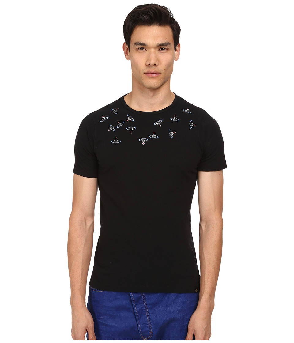 Vivienne Westwood MAN - Anglomania Crazy Orbs Tee (Black) Men's T Shirt