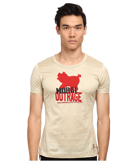 Vivienne Westwood MAN - Moral Outrage T-Shirt (Oatmeal) T Shirt