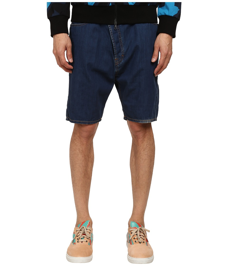 Vivienne Westwood MAN - Anglomania Asymmetric Short (Indigo) Men's Shorts