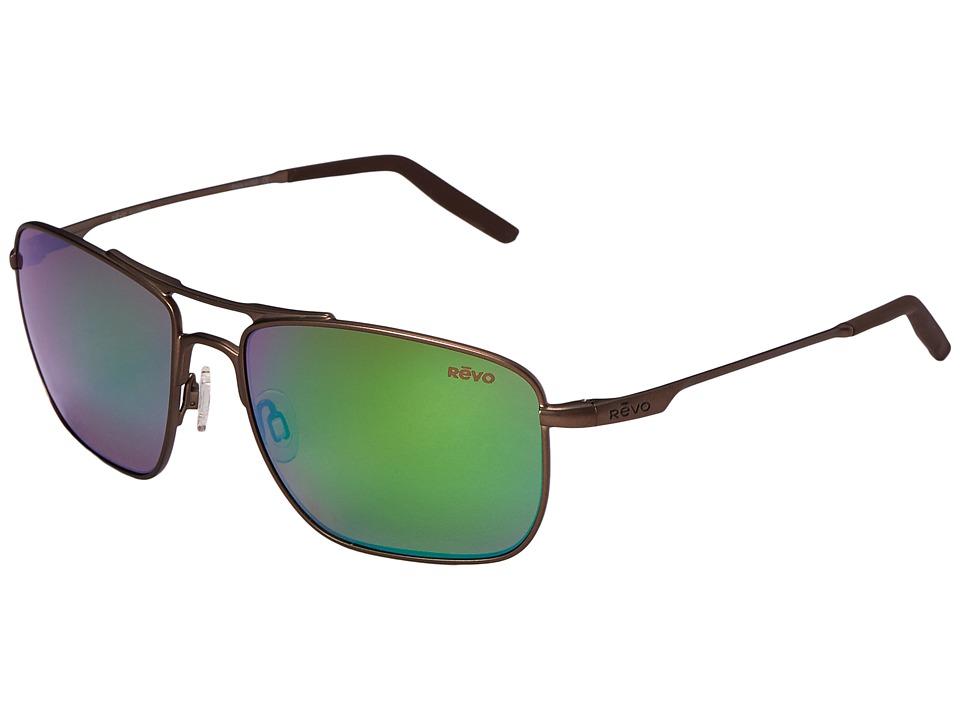 Revo - Ground Speed (Brown/Green Water 2) Sport Sunglasses