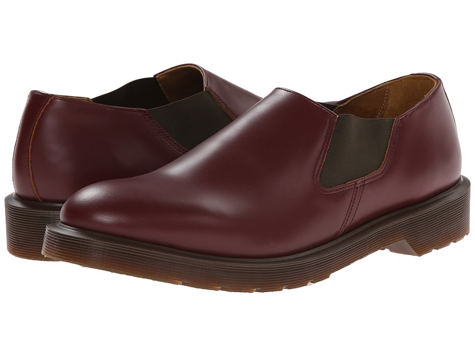 Dr. Martens - Louis Gusset Slip On (Oxblood Vintage Smooth) Men's Slip on Shoes