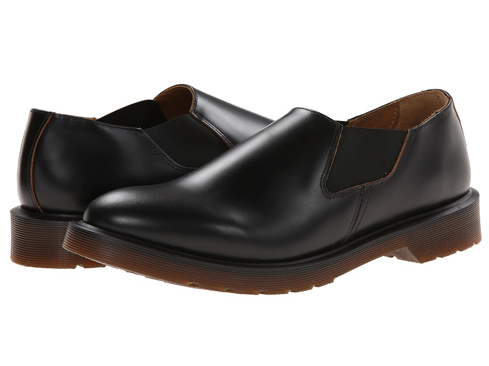 Dr. Martens Louis Gusset Slip On (Black Vintage Smooth) Men