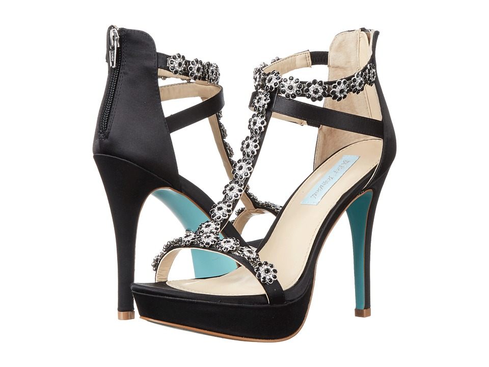 Blue by Betsey Johnson Adore (Black Satin) High Heels