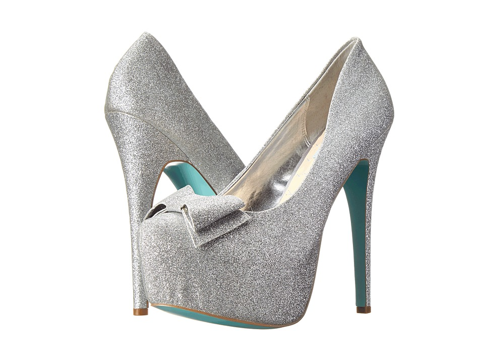 Blue by Betsey Johnson Gala (Silver Fab) High Heels