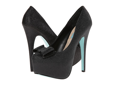 Blue by Betsey Johnson - Gala (Black Glitter) High Heels