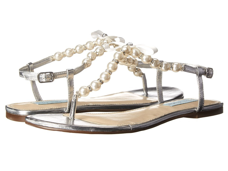 Blue by Betsey Johnson - Pearl (Silver Metal) Women's Dress Sandals