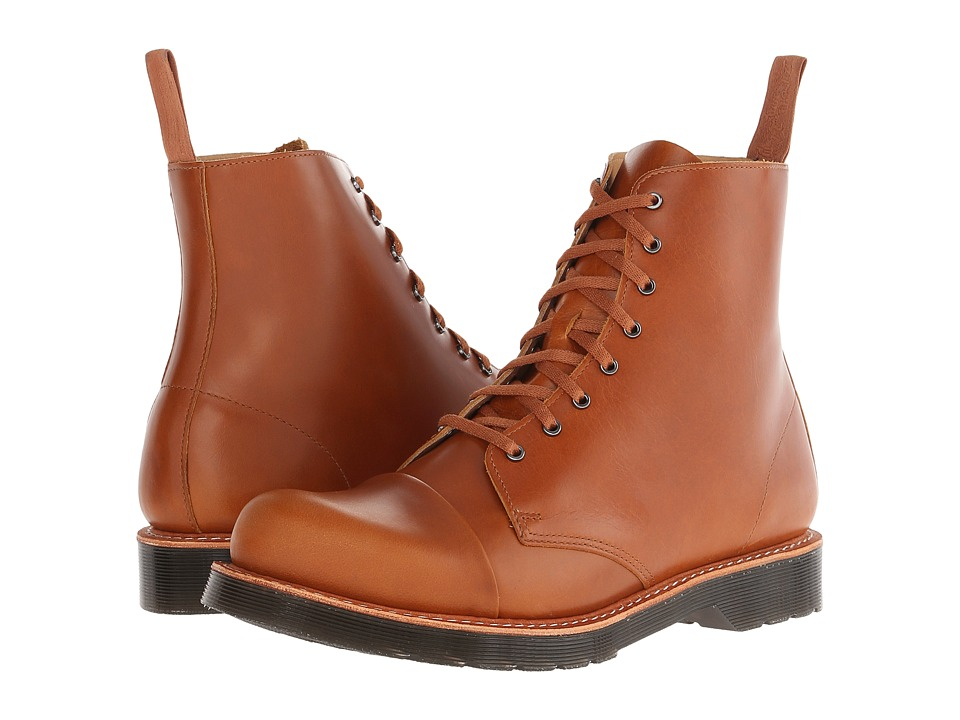 Dr. Martens - Charlton 8-Eye Toe Cap Boot (Oak Analine) Men's Lace-up Boots