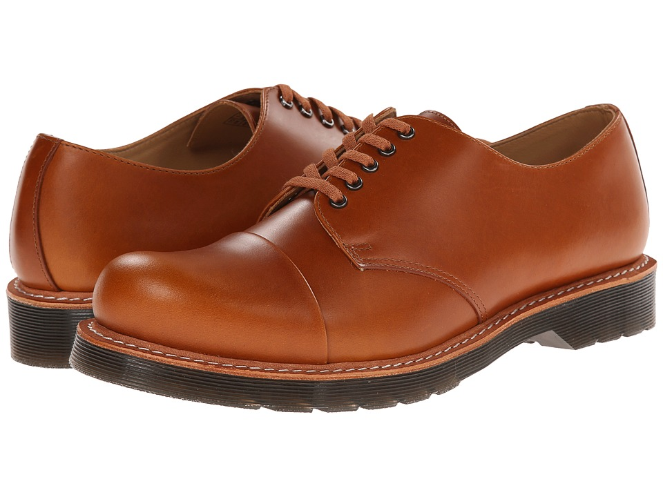 Dr. Martens - Leigh 5-Eye Toe Cap Shoe (Oak Analine) Men