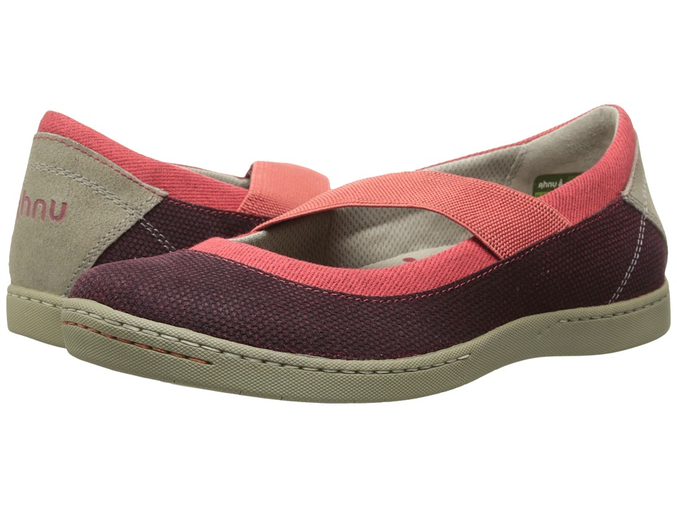 Ahnu - Telegraph Leather (Cranberry) Women's Slip on Shoes