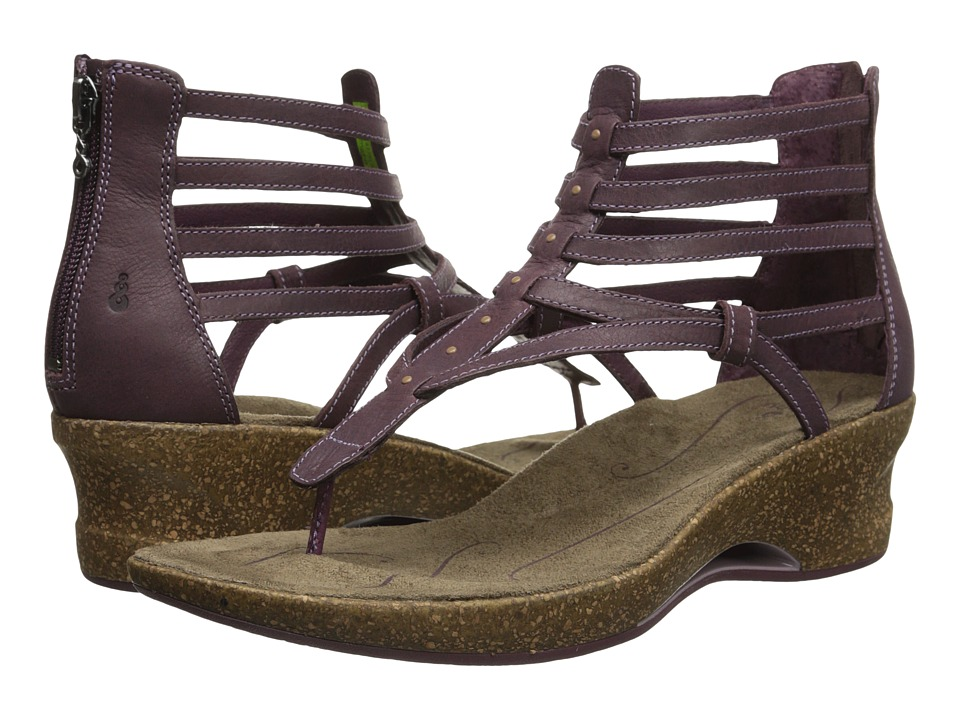 Ahnu - Merida (Eggplant) Women's Wedge Shoes