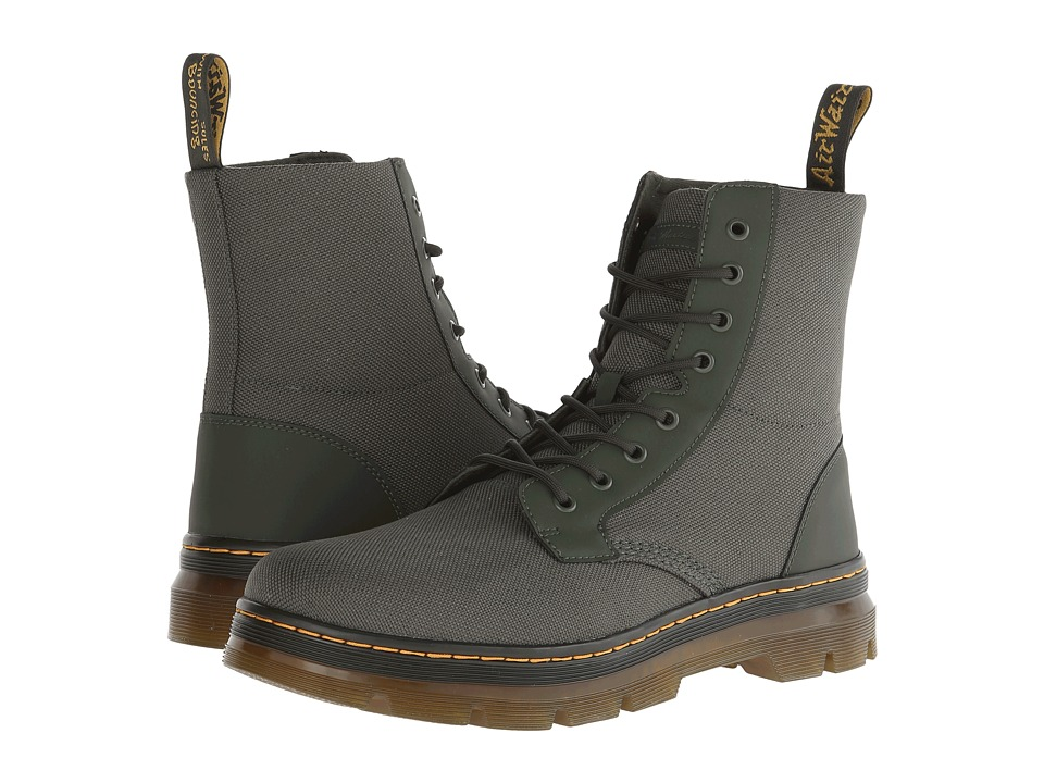 Dr. Martens Combs Fold Down Boot (Olive Extra Tough Nylon/Rubbery) Lace-up Boots
