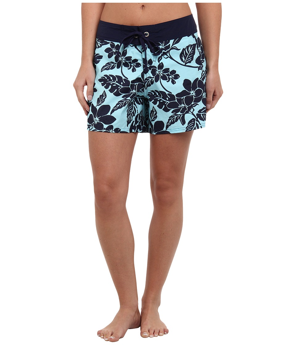 Tommy Bahama - Stem Floral Boardshort 5 Cover-Up (Swimmiing Pool/Mare) Women's Swimwear