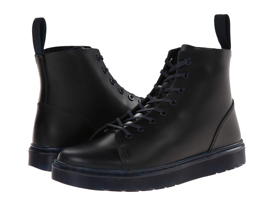 Dr. Martens - Talib 8-Eye Raw Boot (Navy Brando) Men's Lace-up Boots