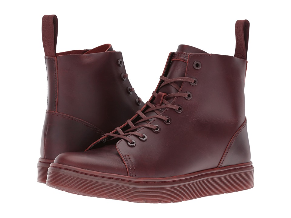 Dr. Martens - Talib 8-Eye Raw Boot (Oxblood Brando) Men's Lace-up Boots