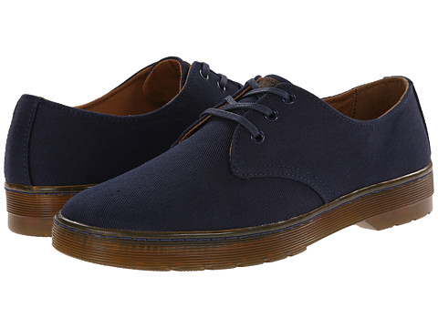 Dr. Martens - Delray 3-Eye (Navy Overdyed Twill Canvas) Men