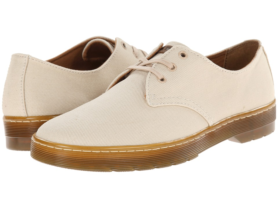 Dr. Martens - Delray 3-Eye (Sand Overdyed Twill Canvas) Men's Lace up casual Shoes