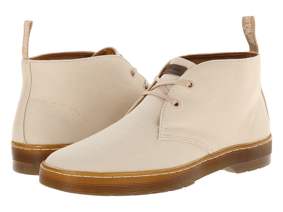 Dr. Martens - Mayport 2-Eye Desert Boot (Sand Overdyed Twill Canvas) Men's Lace-up Boots