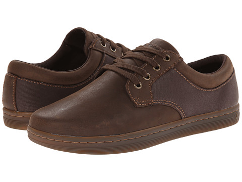 Dr. Martens - Mason 4-Eye Padded Collar (Dark Brown/Dark Brown/Wyoming/Wax Canvas) Men's Lace up casual Shoes