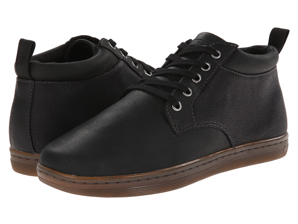 Dr. Martens - Mercer 5-Eye Padded Collar Chukka (Black/Black/Wyoming/Wax Canvas) Men's Lace up casual Shoes