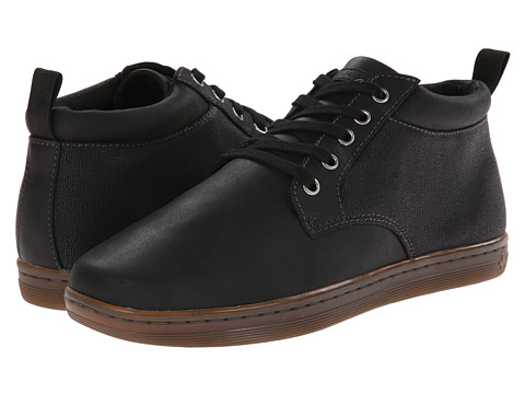 Dr. Martens - Mercer 5-Eye Padded Collar Chukka (Black/Black/Wyoming/Wax Canvas) Men
