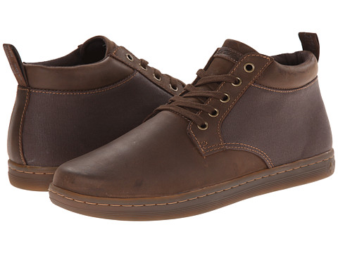 Dr. Martens - Mercer 5-Eye Padded Collar Chukka (Dark Brown/Dark Brown/Wyoming/Wax Canvas) Men's Lace up casual Shoes
