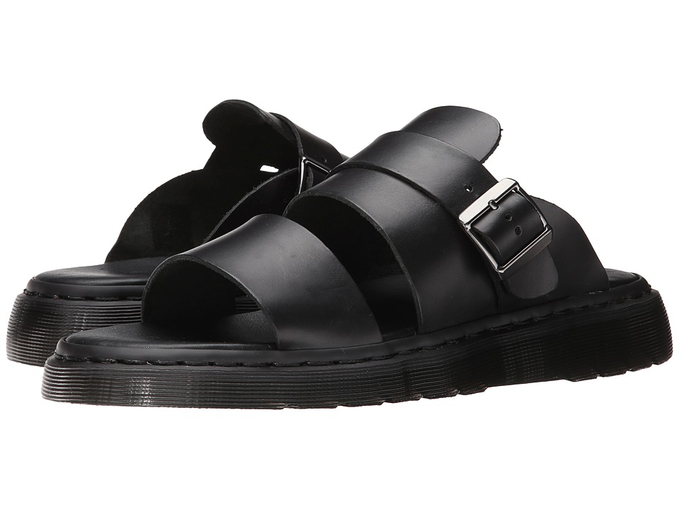 Dr. Martens - Brelade Buckle Slide (Black Brando) Men's Sandals
