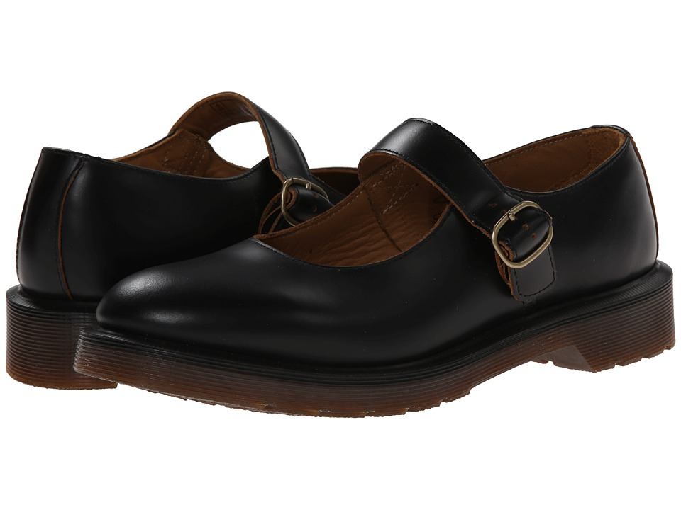 Dr. Martens - Indica Mary Jane (Black Vintage Smooth) Women's Maryjane Shoes