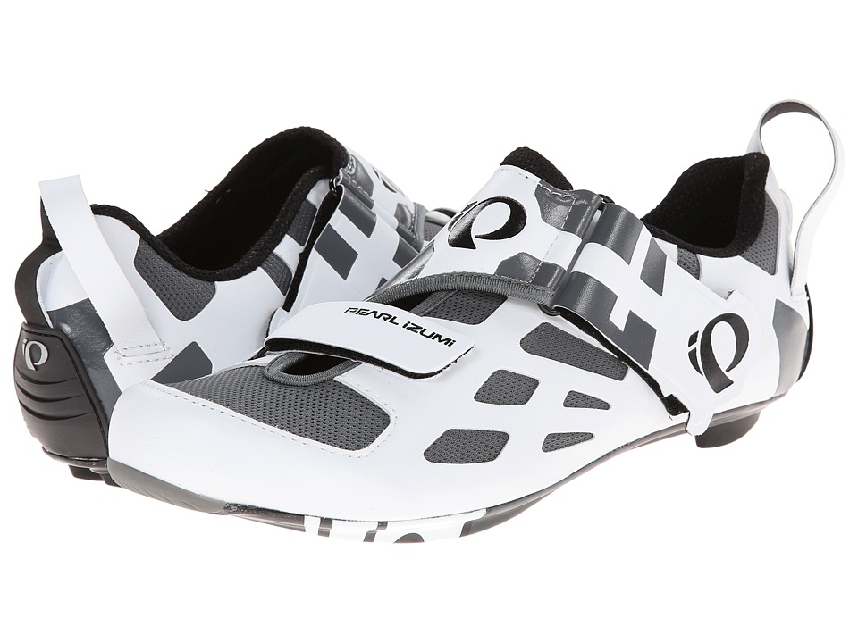 Pearl Izumi - Tri Fly V Carbon (White/Black) Men's Cycling Shoes