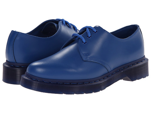 Dr. Martens - 1461 Mono 3-Eye (Blue Smooth) Women's Lace up casual Shoes