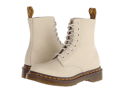 Dr. Martens - Pascal 8-Eye Boot (Ivory Virginia) Lace-up Boots