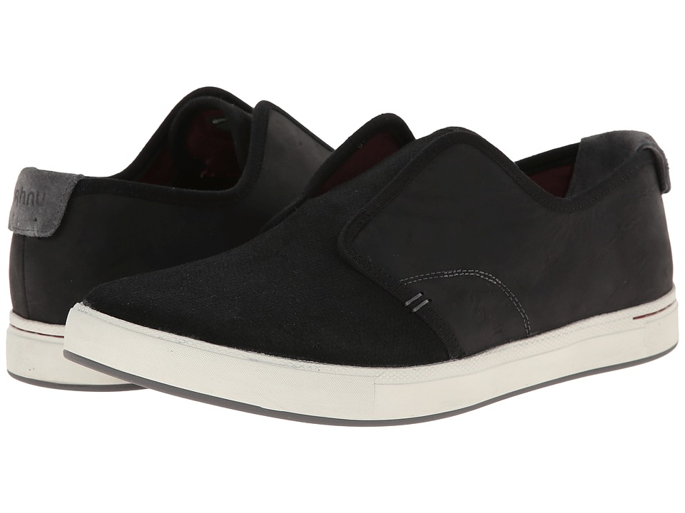 Ahnu - North Beach Leather (Black) Men's Shoes