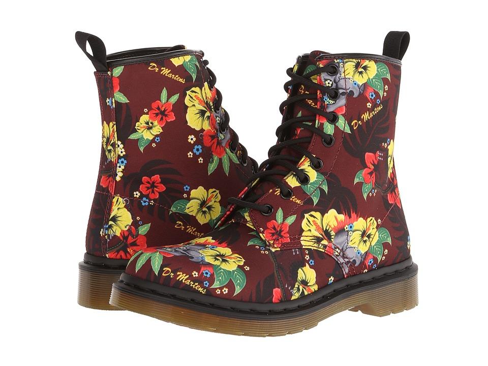 Dr. Martens - Castel 8-Eye Boot W (Cherry Red Hawaiian Punk T Canvas) Women