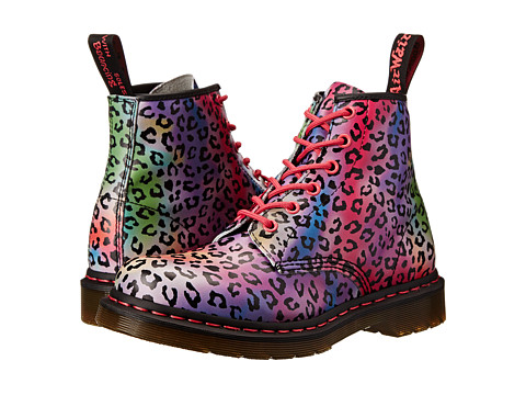 Dr. Martens - 101 6-Eye Boot (Multi Psych Leo Softy T) Women