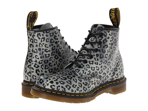 Dr. Martens - 101 6-Eye Boot (Charcoal Psych Leo Softy T) Women's Lace-up Boots