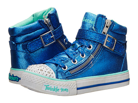 SKECHERS KIDS - Twinkle Toes-Shuffles Lights 10405L (Little Kid/Big Kid) (Royal) Girls Shoes