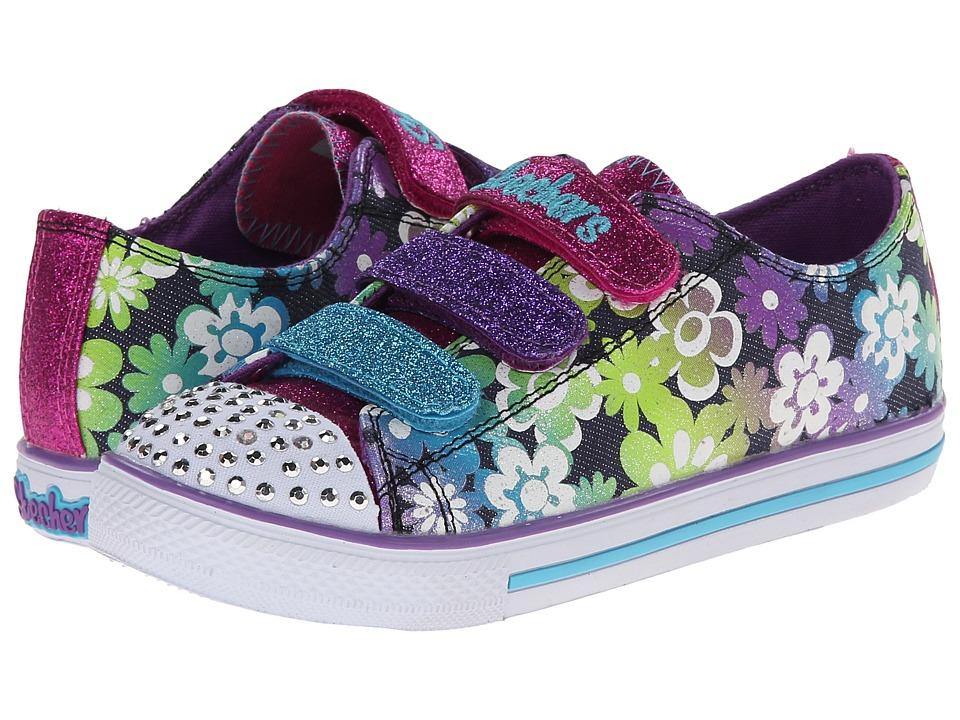 SKECHERS KIDS - Chit Chat Lights 10480L (Little Kid/Big Kid) (Denim/Multi) Girls Shoes