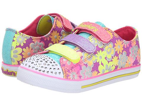 SKECHERS KIDS - Chit Chat Lights 10480L (Little Kid/Big Kid) (Purple/Multi) Girls Shoes