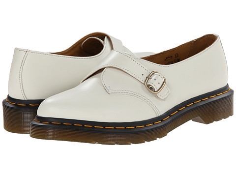 Dr. Martens - Agnes Pointed Monk (Off White Polished Smooth) Women