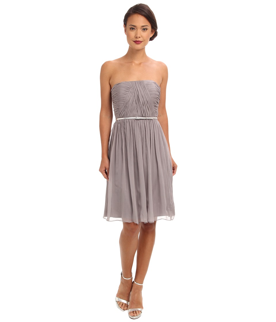 Donna Morgan - Donna Belted Chiffon (Sterling) Women's Dress