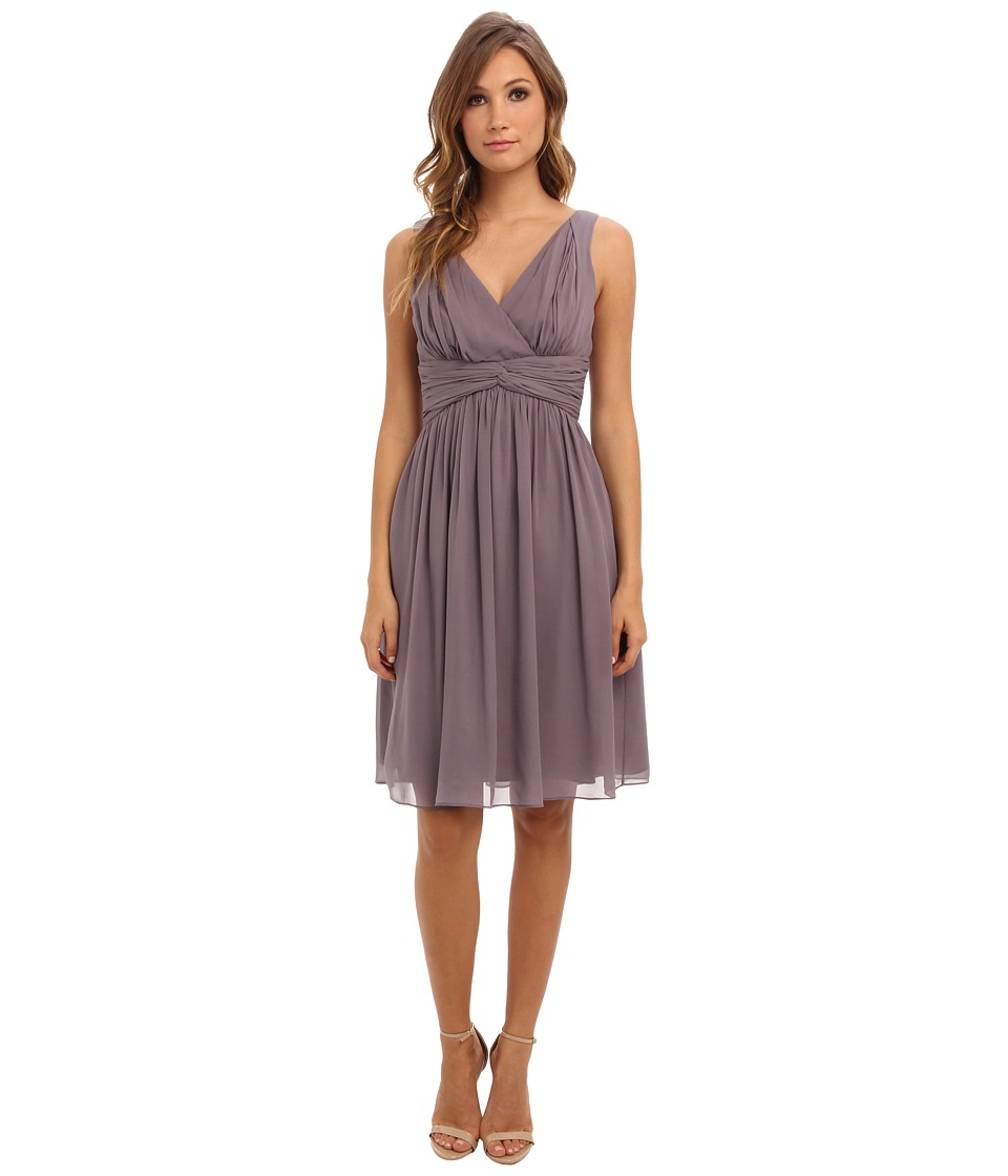 Donna Morgan - Jessie Short Chiffon Bra Friendly (Grey Ridge) Women's Dress
