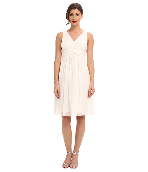 Donna Morgan - Jessie Short Chiffon Bra Friendly (White Lily) Women's Dress