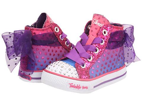 SKECHERS KIDS - Shuffles - Pixie Bunch 10421N Lights (Toddler) (Purple/Hot Pink) Girls Shoes