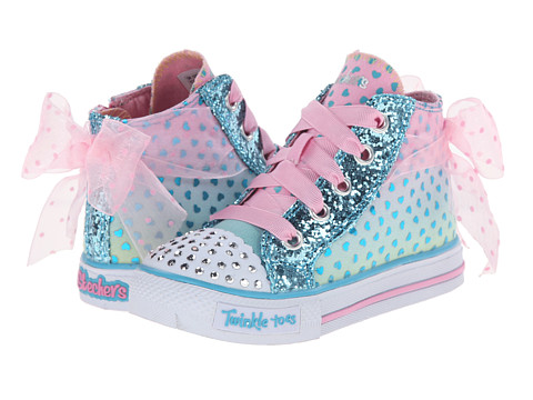 SKECHERS KIDS - Shuffles - Pixie Bunch 10421N Lights (Toddler) (Turquoise/Pink) Girls Shoes
